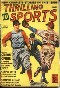 THRILLING SPORTS - SUMMER 1942--FOOTBALL--GOLF--BOBBY JONES--POLO--BOXING--PULP