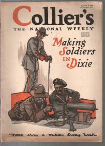 Collier's 4/27/1918-WWI issue-.50 caliber machine gun-gas mask-pix-VG-