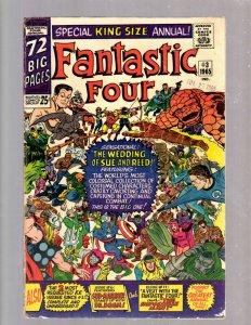 Fantastic Four Annual # 3 FN Marvel Comic Book Wedding Reed & Sue Avengers JK7