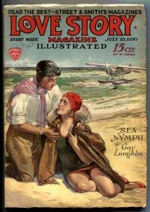 Love Story Pulp July 19 1930- SEA NYMPH- Modest Stein G/VG