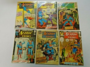 Silver Age Action Comics Lot 15¢ Covers 6 Different Average 4.0 VG (1969-1971)