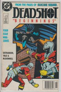 SUICIDE SQUAD - DEADSHOT #1 - BEGINNINGS -  - BAGGED & BOARDED