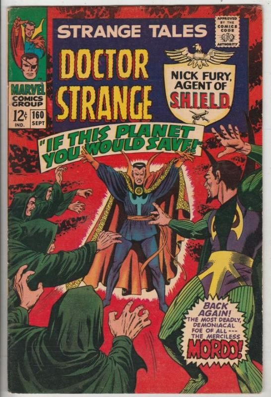 Strange Tales #160 (Sep-67) VF/NM- High-Grade Nick Fury, Dr. Strange