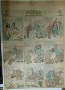 Percy The Robot Sunday Page by HC Greening from 8/25/1912 Full Page Size Rare !