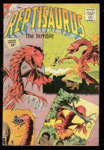 REPTISAURUS #4 1962-CHARLTON COMICS-WILD COVER FN