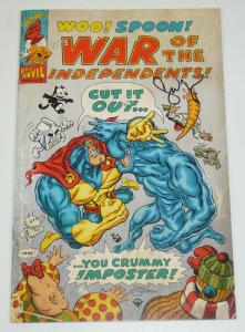 War of the Independents #4 VF/NM sam kieth's the maxx - toxic avenger - signed