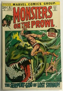 MONSTERS ON THE PROWL#16 FN/VF 1972 KING KULL MARVEL BRONZE AGE COMICS
