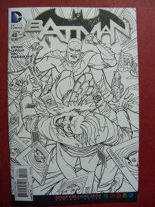 BATMAN #48 ADULT COLORING BOOK Variant Cover 2016 Near Mint 9.4 Or Better
