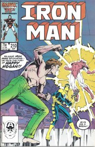 Iron Man #210 (Sept 1986) - co-starring Happy Hogan - villain: Spymaster