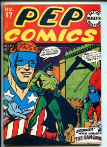 PEP COMICS #17 REPRINT #1970'S-DYNA PUBS-HANGMAN-THE SHIELD-COMET-MADAM SATAN-vf