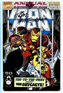IRON MAN Annual #12  1991 Signed on cover by TOM MORGAN