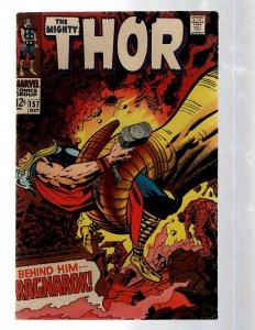 Mighty Thor # 157 FN Marvel Comic Book Loki Odin Asgard Sif Avengers Hulk RB8