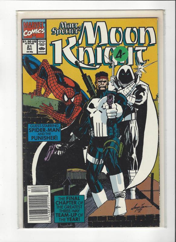 Marc Spector: Moon Knight #21 Spider-Man Punisher NM