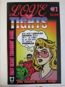 Love in Tights (Slave Labor Graphics) #1 Signed by B. Clay Moore 1st work