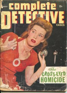 Complete Detective 2/1945-spicy woman photo cover-lurid crime-exploitation-pulp