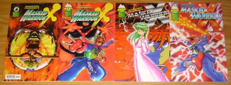 Masayuki Fujihara's Masked Warrior X #1-4 FN/VF complete series  antarctic press