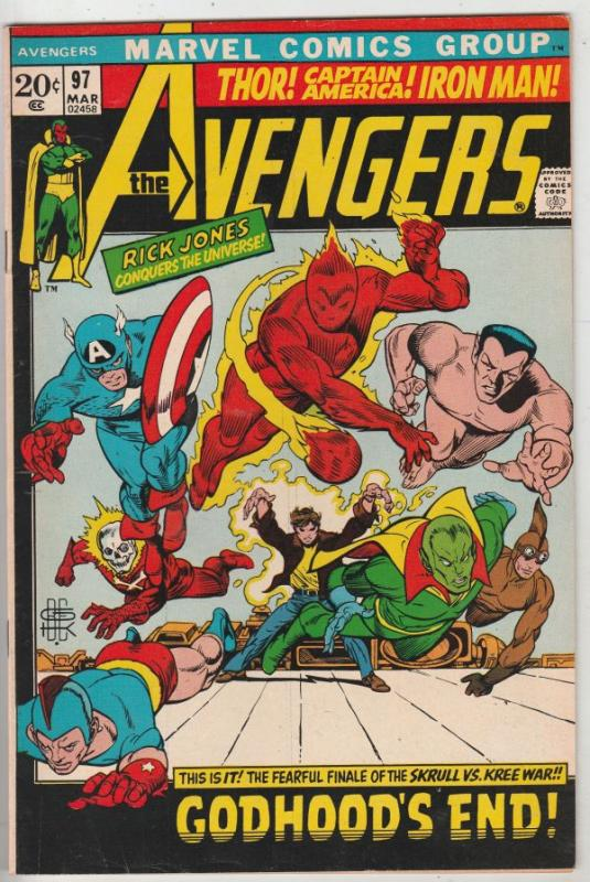 Avengers, The #97 (Mar-72) NM- High-Grade Avengers