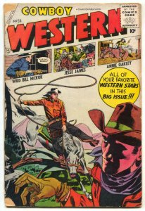 Cowboy Western #54 1955-Charlton- Wild Bill Hickok G-