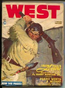 West 3/1948-Thrilling-Zorro-Johnston McCulley-A. Leslie Ross-cover-hero pulp-...
