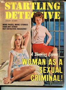 STARTLING DETECTIVE-JAN 1965-FN-SPICY-MURDER-RAPE-KIDNAP-FORBIDDEN LOVE FN