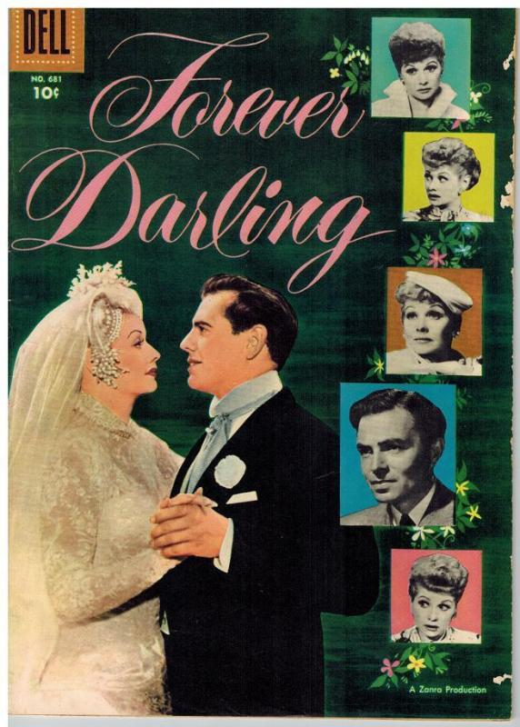 FOREVER DARLING F.C. 681 VG+ James Mason, Lucille Ball COMICS BOOK