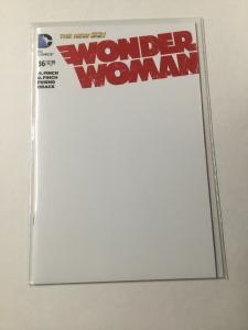 Wonder Woman 36 Nm Near Mint Blank Variant DC Comics