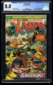 X-Men #95 CGC VF 8.0 Off White to White Death of Thunderbird! Marvel Comics