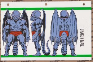 Official Handbook of the Marvel Universe Sheet- Dragon Man