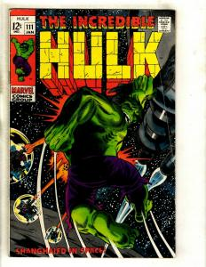 Incredible Hulk # 111 FN Marvel Comic Book Avengers Thor Iron Man Vision GK3