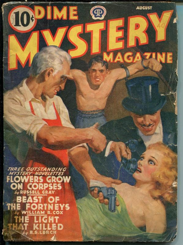 DIME MYSTERY08/1940-POPULAR--HARD BOILED PULP-CRIME-WEIRD MENACES-good