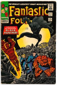 Black Panther Debuts! FANTASTIC FOUR #52 (July'66)4.5VG+ Kirby Unveils T'Challa!