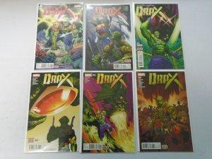 Drax set #1-11 avg 8.5 VF+ (2015)