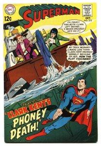 SUPERMAN #210 1968- DC Silver Age Clark Kent Phoney Death FN+