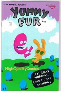 YUMMY FUR #13, VF+, Chester Brown, Indy, Vortex, 1986, more in store