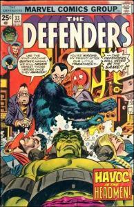Marvel THE DEFENDERS (1972 Series) #33 FN+