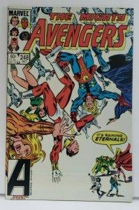 The Avengers #248 NM- 1984 Eternals App! Copper Bronze Age
