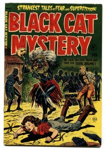BLACK CAT MYSTERY #43-WOMEN TIED UP AND MENACED 1953-PCH FN+