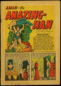 Amazing-Man #11 1940- Rare Centaur- Bill Everett- Magician from Mars  -
