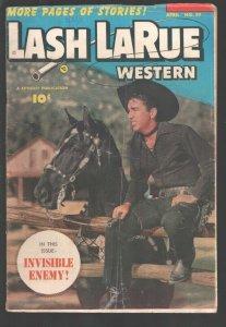 Lash LaRue Western #39-1952-Fawcett-B-Western film star photo cover-Lash and ...