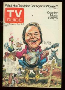 TV Guide August 11 1973- Central Ohio edition- Jack Davis HEE HAW cover