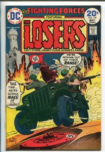 OUR FIGHTING FORCES #148 1974-DC-THE LOSERS-JOHN SEVERIN-JOE KUBERT-vf/nm