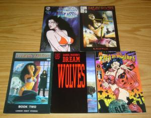 Dream Wolves #0 & 1-3 VF/NM complete series + swimsuit bizarre - bad girl comics