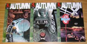 Autumn #1-3 VF/NM complete series - world war 2 serial killer - caliber comics