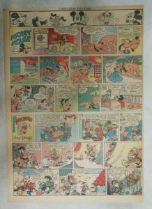 Mickey Mouse Sunday Page by Walt Disney from 9/16/1945 Tabloid Page Size