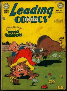 LEADING COMICS #37 1949-DC COMICS-PETER PORKCHOPS G/VG