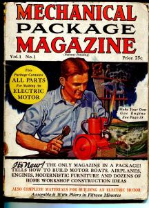 Mechanical Package Magazine #1 1931-Fawcett-1st issue-Rod la Roque-Shadow-VG