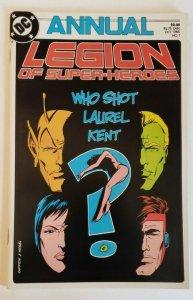 Legion of Super-Heroes Annual #1 DC Comics 1985 NM- 9.2 Who Shot Laurel Kent?