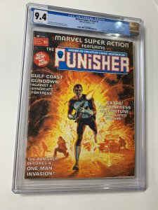 Marvel Super-action 1 Cgc 9.4 White Pages Punisher Story
