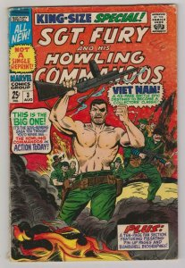 SGT. FURY & HIS HOWLING COMMANDOS KING- SIZE SPECIAL #3 1967 MARVEL COMICS
