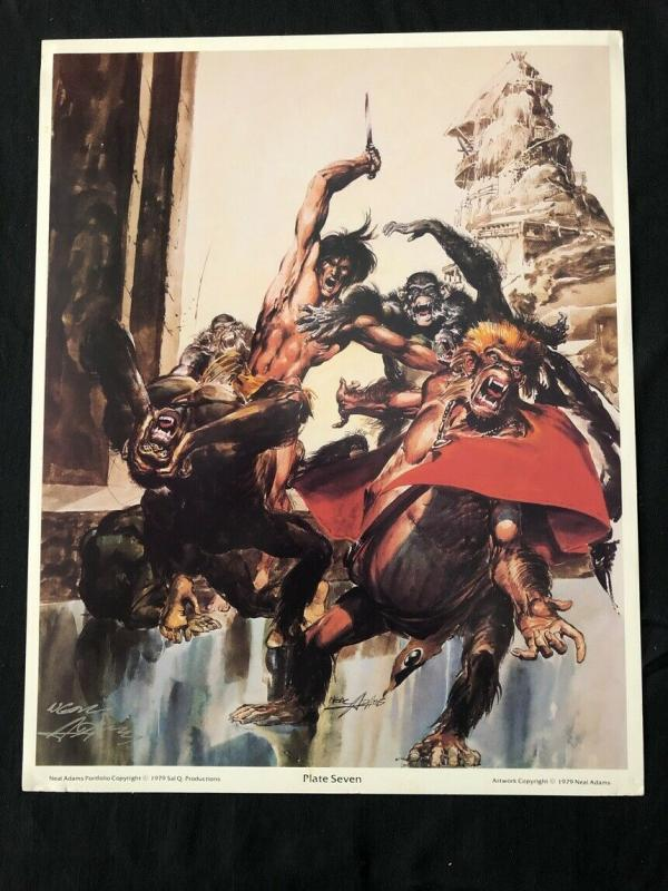 Neal Adams signed Tarzan Print Plate Seven with COA